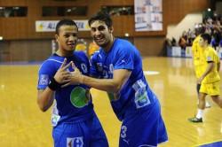 Quentin Minel (à gauche) accompagné d'Adrien Ballet a déjà fait savoir son agacement de jouer en Pro D2 la saison prochaine.