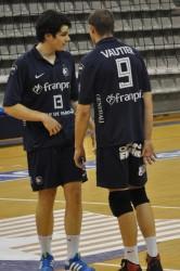 Antoine Brizart (N°13) et Marc Vautier (N°9° appelés à jouer les premiers rôles avec le Paris Volley à moyen terme