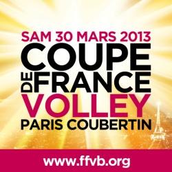 L'affiche des finales de Coupe de France qui auront lieu samedi à Coubertin.